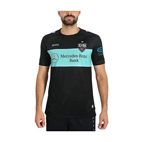 JAKO Kinder VfB Stuttgart Away Tw Trikot, schwarz/Mint, 140