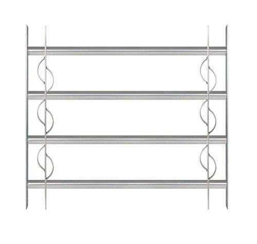 GAH-Alberts 563653 Fenstergitter Secorino Style | Ausziehbar für Fenster außen | Einbruchschutz Gitter |...