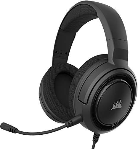 Corsair HS35 Stereo Gaming Headset (50mm Neodym Lautsprecher, Abnehmbares Unidirektionales Mikrofon,...