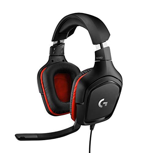 Logitech G332 kabelgebundenes Gaming-Headset, 50mm Treiber, Rotierende Kunstleder-Ohrmuscheln, 3.5mm Klinke,...