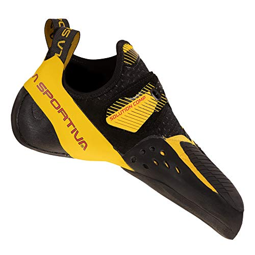 LA SPORTIVA Herren Solution Comp Trekkingschuhe, Black/Yellow, 43 EU