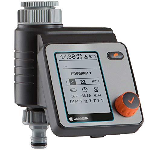 GARDENA Water Control Master: Automatisch, zeitsparende Bewässerung, 6 Zeitpläne, LCD-Display, Water Now...