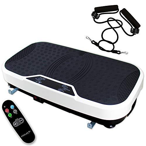 @tec Vibrationsplatte Fitnessstation Vibration-Trainings-Gerät Bauch Beine Po Vitaplate SE by effektiver...