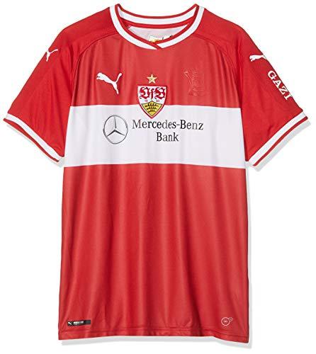 PUMA Kinder Trikot VfB Stuttgart Away Replica Shirt Jr w. Sponsor, Ribbon Red-Puma White, 176, 924550