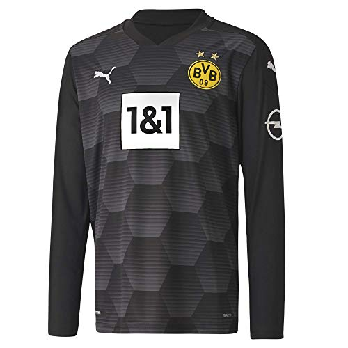 PUMA BVB GK Shirt Replica LS Jr w.Sponsor New Torwarttrikot, Black, 164