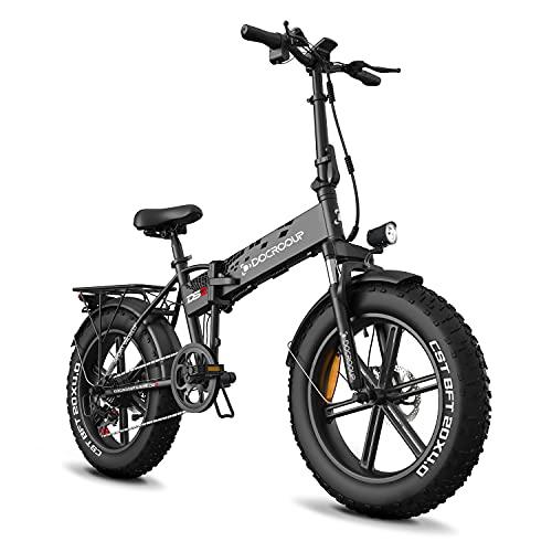 Docrooup DS2 Elektro Klapprad eBike für Erwachsene - e Bike Removable Battery 20Zoll 48V/12AH Lithium Akku...