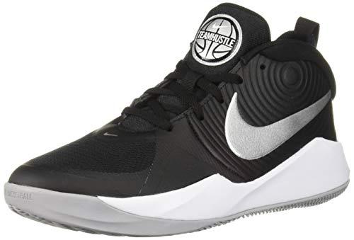 Nike Team Hustle D 9 (GS) Basketballschuhe, Mehrfarbig (Black/Metallic Silver/Wolf Grey/White 000), 40 EU