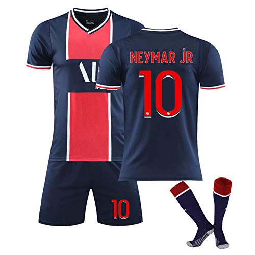 Fußballtrikots für Kinder und Erwachsene Herren, Neymar 10 Mbappé 7 Fan Jersey, Geeignet für die Saison...