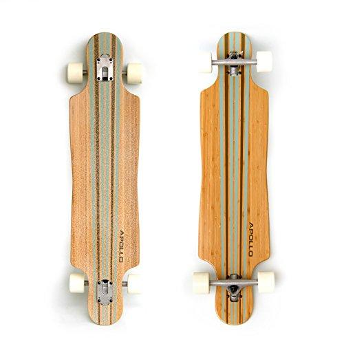Apollo Longboard Nebula Special Edition Komplettboard mit High Speed ABEC Kugellagern inkl. Skate T-Tool, Drop...