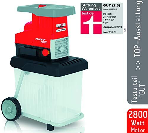 Grizzly Elektro Messerhcksler EMH 2440, Hcksler mit 2400 Watt Motor, Inkl. Stopfer und Fangsack