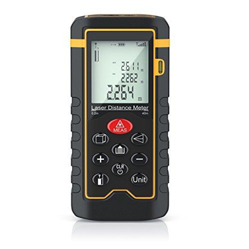 Brandson - Laser Entfernungsmesser - Laser Distanzmessgerät - Messung von Distanz, Flächen, Volumen - bis zu...
