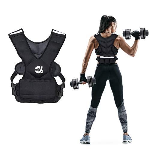 ATIVAFIT Gewichtsweste, 3.5kg(8 Pfund), 7kg (16 Pfund) Laufweste, Trainingsweste mit Gewichten für Fitness,...