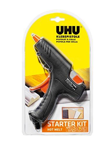 UHU Heißklebepistole Hot Melt Starter-Kit (Pistole + 6 Patronen)