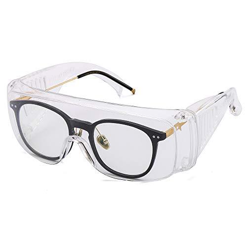 Suertree Schutzbrille Augenschutz Vollsichtbrille Überbrille Schleifbrille für Brillenträger EN166