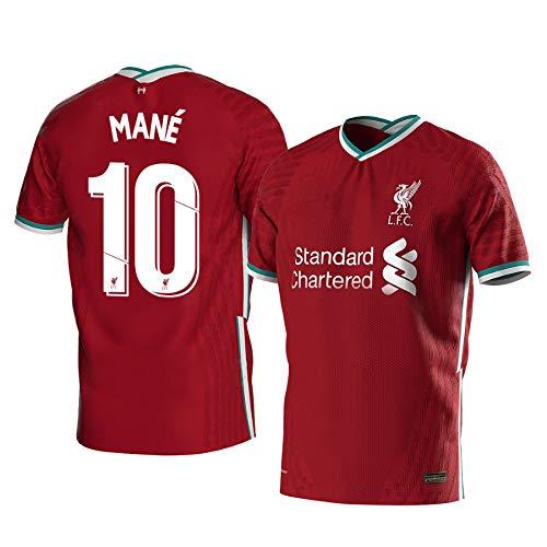 xfff132 Sadio Mané Liverpool Rot,Maillot Sadio Mané Trikot 2020/21 für Herren & Jungen(Rot,XL)