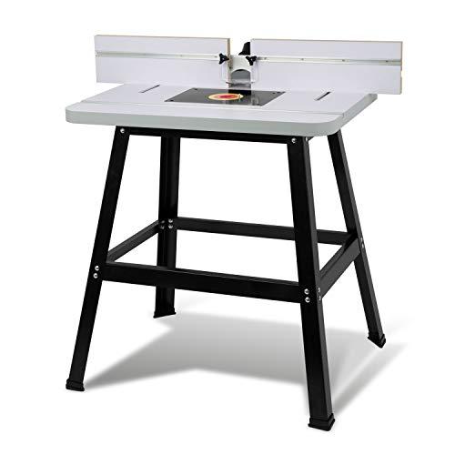 EBERTH Oberfräsentisch Frästisch für Oberfräse und Tischfräse (810 x 610 mm Arbeitstisch, 880 mm...