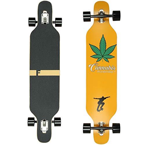 Flex2 bis 84kg - Camber Longboard (Flex2 bis 84kg, Cannabis - Ahornholz)