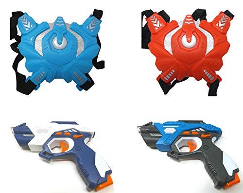 Brigamo Laser Tag 2er Pack, 2 x Laser Pistole und 2X Sensor Weste, Infrarot Lasertag Spiel Set, Infrarot...