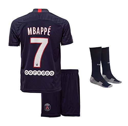 Paris Mbappe #7 2018 Heim Trikot Shorts und Socken Kinder und Jugend Größe (140)