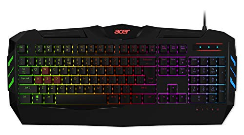 Acer Nitro Gaming Keyboard (QWERTZ-Tastatur, widerstandsfähige Tastenkappen, sechs Helligkeitsstufen, zwei...