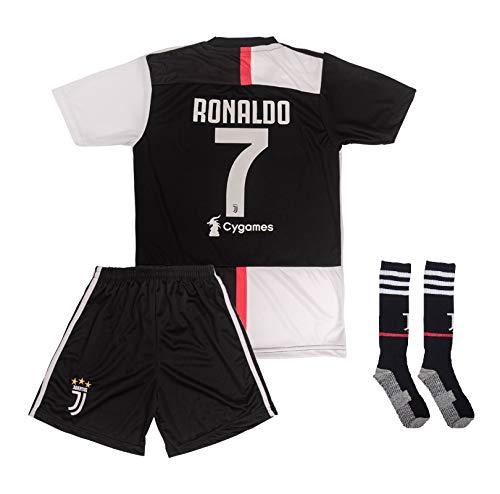 ATB Real Madrid # 7 Ronaldo 2018/19 Heim Kinder Trikot und Hose mit Socken (176)