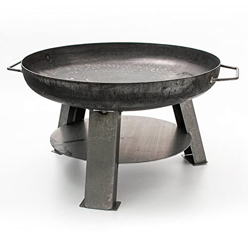 Feuerschale Phoenix aus Stahl - 55cm Durchmesser, TÜV geprüft, Feuerstelle mit Griffen zum Grillen im Garten...