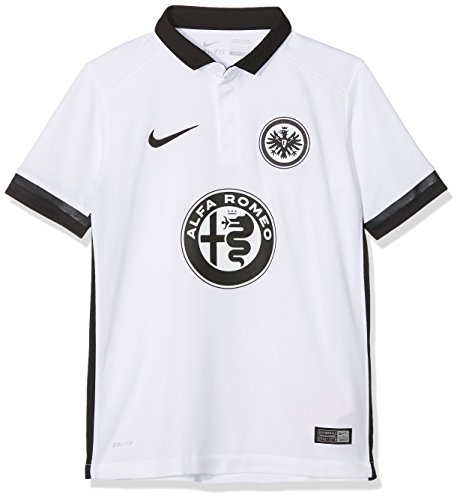 Nike Kinder Eintracht Frankfurt Away Stadium 2015/2016 Auswärtstrikot, weiß, 147/158