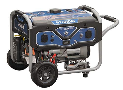 HYUNDAI Benzin Generator BG55052, Notstromaggregat mit 7PS Motor und 3.0kW max. Leistung, Handstart und...