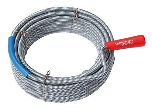 Rothenberger Industrial 1500000141 Rohrreinigung Spirale mit Kralle 10 m, Ø 9 mm
