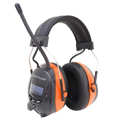 Protear Gehörschutz mit DAB + / FM-Radio und Bluetooth, kabellose Kopfhörer mit Geräuschunterdrückung für...
