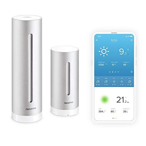 Netatmo Smarte Wetterstation - WLAN, Funk, Innen- und Außensensor, Wettervorhersage, Amazon Alexa & Apple...