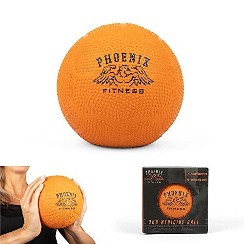 Phoenix Fitness RY929 No Bounce Medicine Slam Ball, Kleiner Medizinball, Med Ball, Langlebiger Gymnastikball...