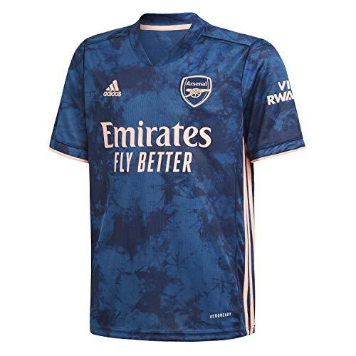 adidas Kinder Trikot Arsenal FC 3rd Jersey 2020/21, Legend Marine/Light Flash orange, 128, GH6645