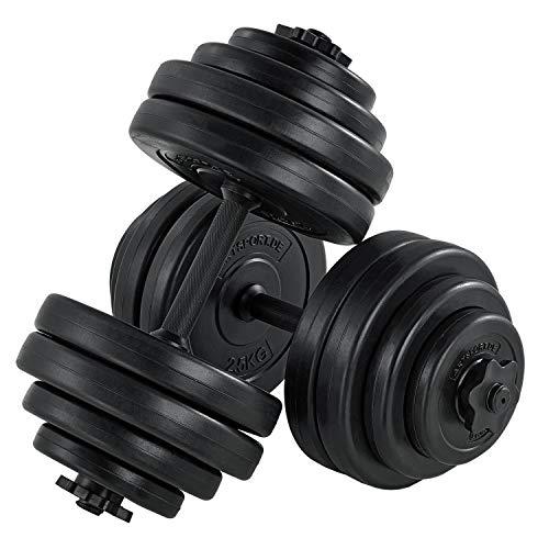 ArtSport Hantelset 30kg | Kurzhantel Set mit 2 Kurzhanteln 25 mm gerändelt, 16 Gewichte und Sternverschlüsse...