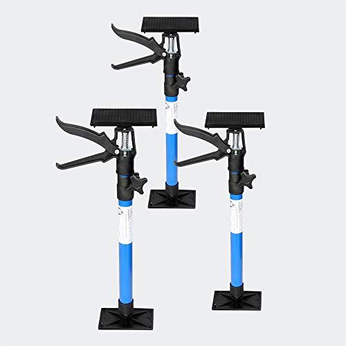 Zargenspanner 3er Set für Türrahmen stufenlos 51-115cm mit 30kg Tragkraft neigbare Druckplatten