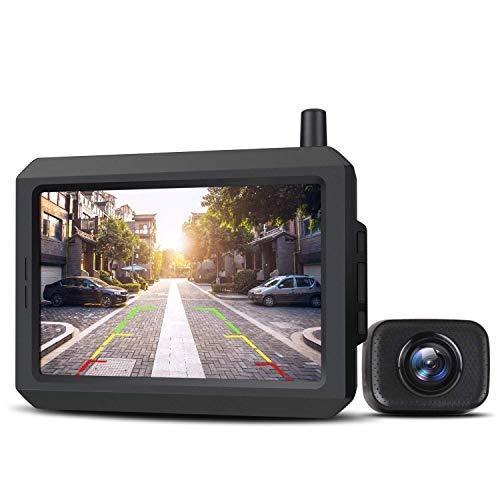 """AUTO-VOX W7 5"""" LCD Kabellos Digital Rückfahrkamera Set, mit eingebautem Funksender, Wireless Einparkhilfe,..."""