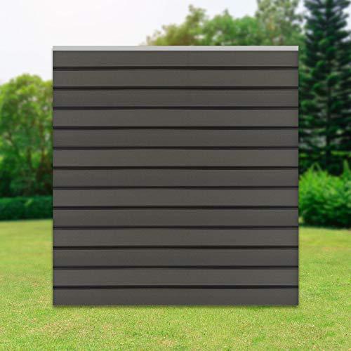 ML-Design WPC Quadratelement aus 13 WPC Paneele, 170x175x1,9 cm, Grau, robust, witterungsbeständig,...