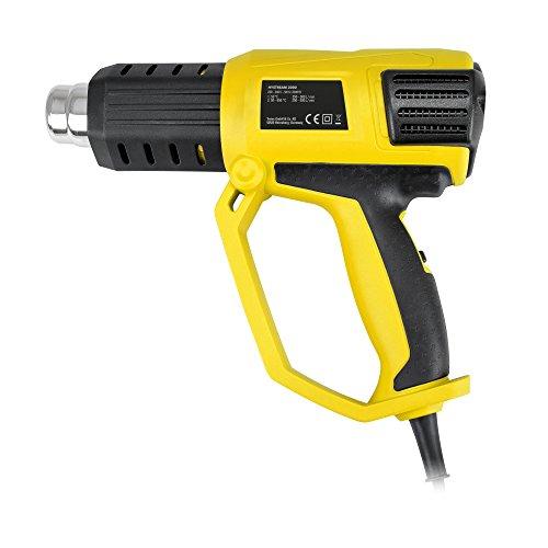 TROTEC HyStream 2000 Heißluftpistole (2.000 W) bis max. 650 °C inkl. vielseitig einsetzbarem...