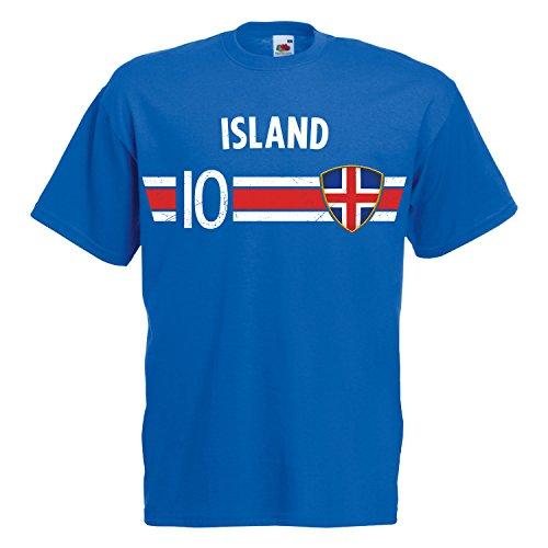 Fußball WM T-Shirt Fan Artikel Nummer 10 - Weltmeisterschaft 2018 - Länder Trikot Jersey Herren Damen Kinder...