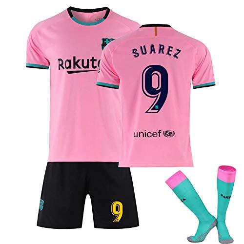 Fútbol Club Barcelona NO.10 Lionel Messi Fußball Trikot Bequemes Jugend T-Shirt Atmungsaktive...