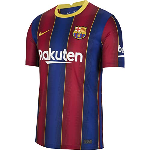 Nike Herren Trikot FC Barcelona Stadium Home, Deep Royal Blue/Varsity Maize, L, CD4232-456