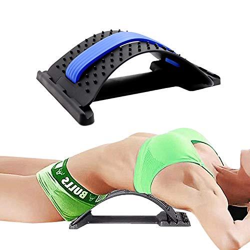 JEEZAO Rückenstrecker Rückendehner Rückentrainer Gegen Verspannungen Back Stretcher (Blau)