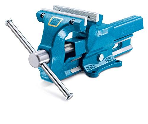 Heuer Schraubstock (Breite 120 mm, Spannweite x Tiefe 150 x 65 mm, Durchmesser 16 – 55 mm; Backen wend- und...