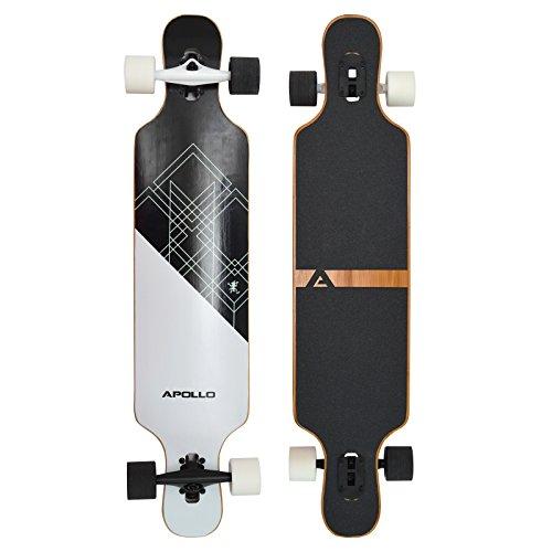 Apollo Longboard Samoa Special Edition Komplettboard mit High Speed ABEC Kugellagern inkl. Skate T-Tool, Drop...