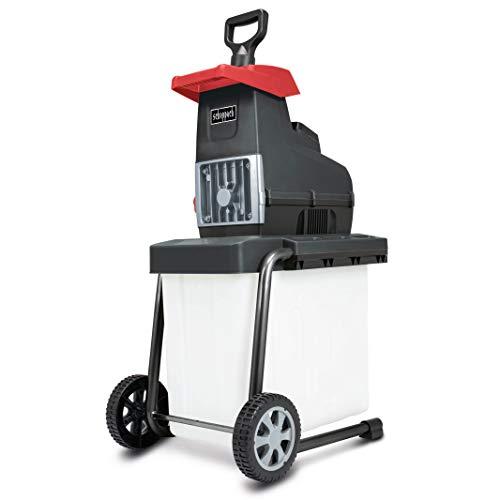 scheppach GS60 Elektro-Gartenhäcksler Leisehäcksler - 2800W | Schnittstärke 45mm | 60L Fangbox