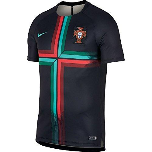 Nike 2018-2019 Portugal Pre-Match Training Shirt (Black) - Kids