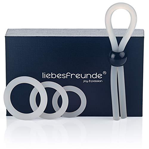 liebesfreunde Cockring Set fr Mnner - Silikon Penisring Hodenring & Penisschlaufe - Sexspielzeug fr Paare zur...