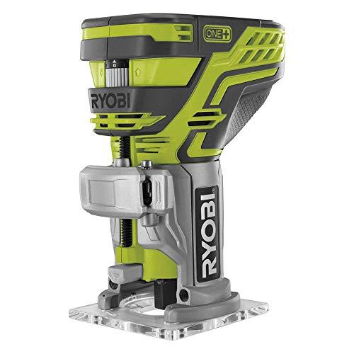 Ryobi Kantenfräse 18 V, LED-Beleuchtung, mit Frästiefen-Einstellung, ohne Akku und Ladegerät – R18TR-0, 1...