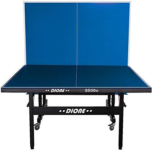Dione Tischtennistisch S500o - 6mm top - Outdoor Klapp - Rollbar Tischtennisplatte für draußen - Wetterfeste...