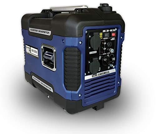 Stromerzeuger GNR.2050, Strom Generator, Benzin, 4l Tankvolumen, Stromaggregat, 4-Takt Motor, Inverter...